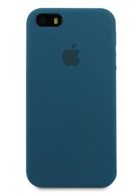 Чехол для iPhone 5/5S Apple Silicone Case Premium (Сине-зеленый)