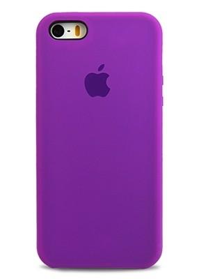 Чехол для iPhone 5/5S Apple Silicone Case Premium (Сиреневый)