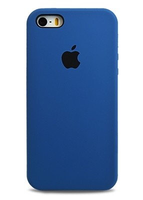 Чехол для iPhone 5/5S Apple Silicone Case Premium (Темно-синий)