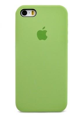 Чехол для iPhone 5/5S Apple Silicone Case Premium (Фисташковый)