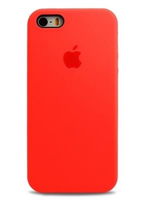 Чехол для iPhone 5/5S Apple Silicone Case Premium (Ярко-розовый)