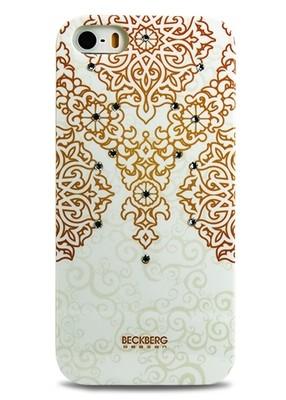 Чехол для iPhone 5/5S Beckberg Exotic (Золотой узор)