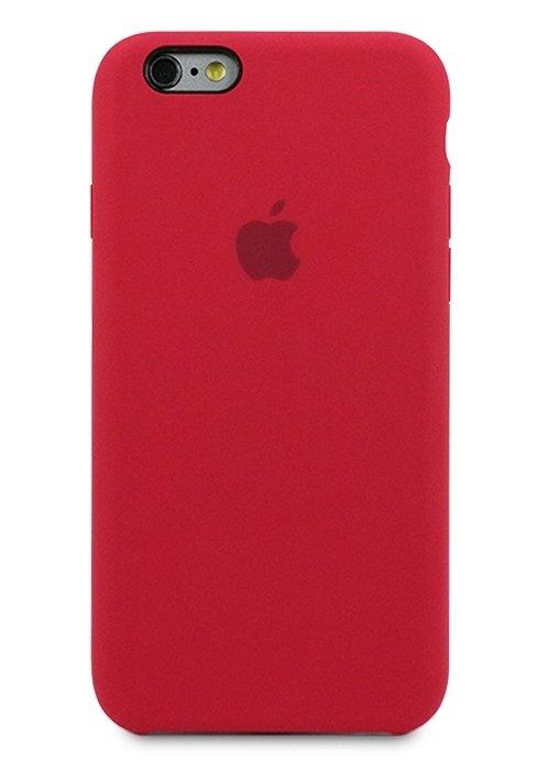 Чехол для iPhone 6/6S Apple Silicone Case Premium (Вишневый)