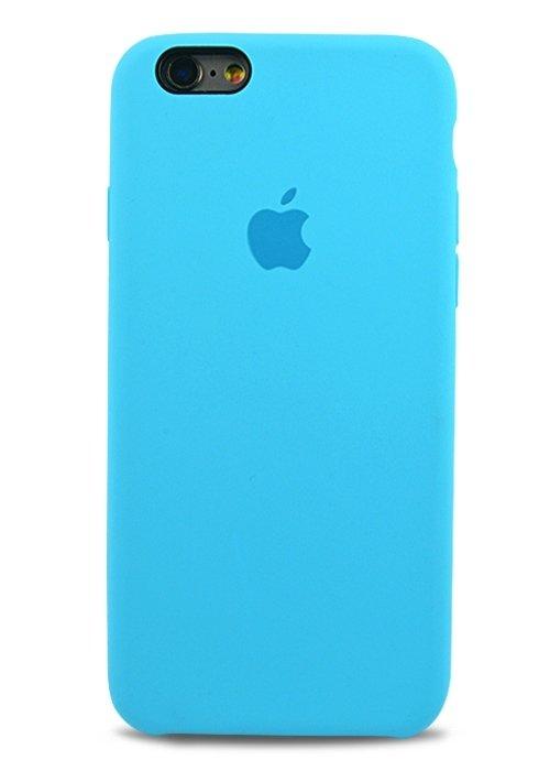 Чехол для iPhone 6/6S Apple Silicone Case Premium (Голубой)
