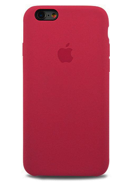 Чехол для iPhone 6/6S Apple Silicone Case Premium (Малиновый)