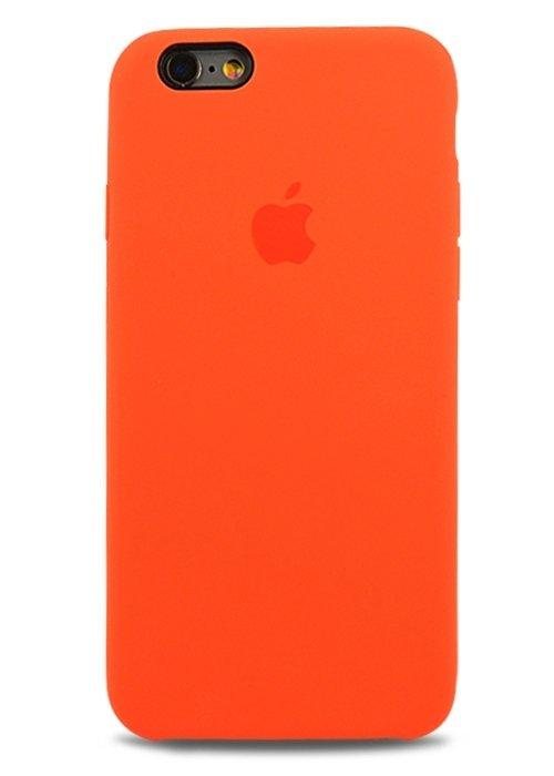 Чехол для iPhone 6/6S Apple Silicone Case Premium (Оранжевый)