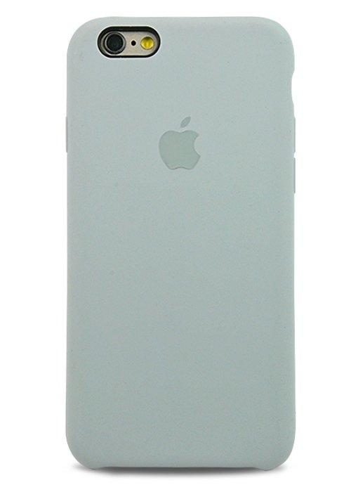 Чехол для iPhone 6/6S Apple Silicone Case Premium (Серо-голубой)