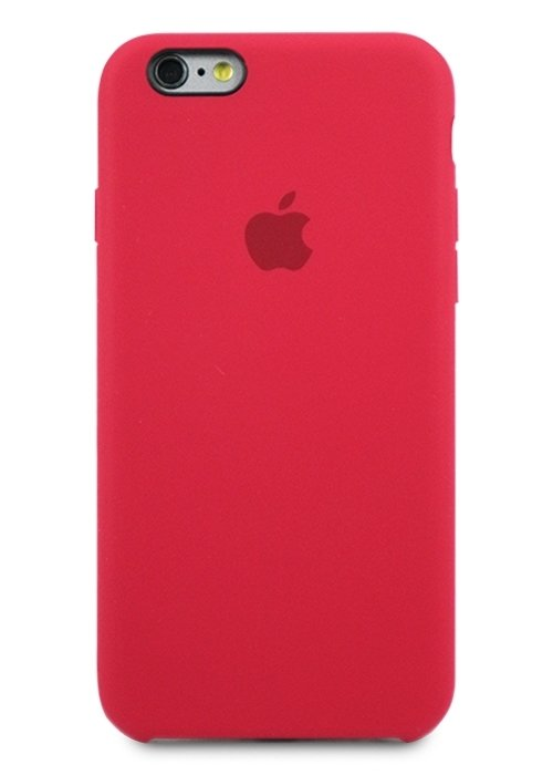 Чехол для iPhone 6/6S Apple Silicone Case Simple (Вишневый)