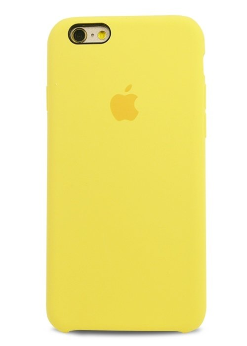 Чехол для iPhone 6/6S Apple Silicone Case Simple (Желтый)