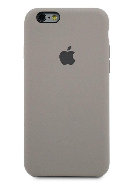 Чехол для iPhone 6/6S Apple Silicone Case Simple (Каменный серый)