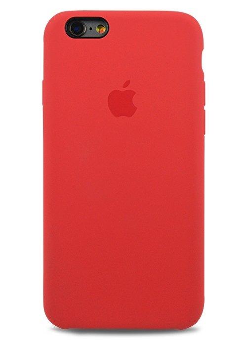 Чехол для iPhone 6/6S Apple Silicone Case Simple (Малиновый)