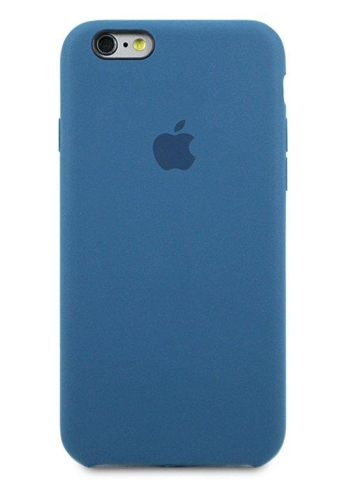 Чехол для iPhone 6/6S Apple Silicone Case Simple (Темно-синий)