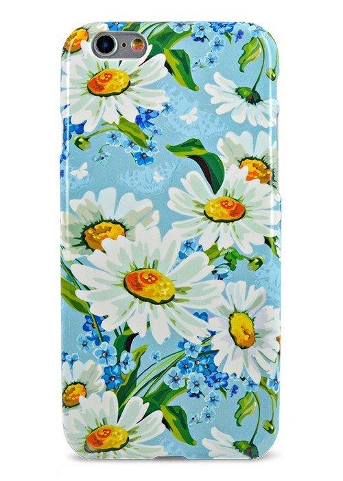 Чехол для iPhone 6/6S Aru Flowers (Ромашки и незабудки)