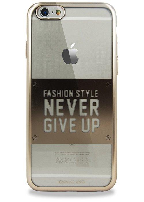 Чехол для iPhone 6/6S Baseus Never Give Up (Золото)