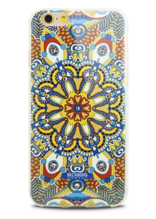 Чехол для iPhone 6/6S Beckberg Exotic (Синий узор)