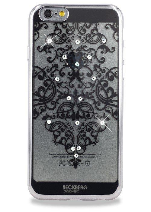 Чехол для iPhone 6/6S Beckberg Мандала узор сверху (Серебро)