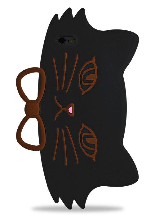 Чехол для iPhone 6/6S Cat gentleman (Черный)