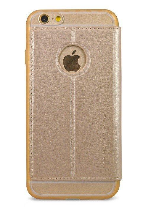 Чехол для iPhone 6/6S G-Case окно с ответ книжка (Золотой)