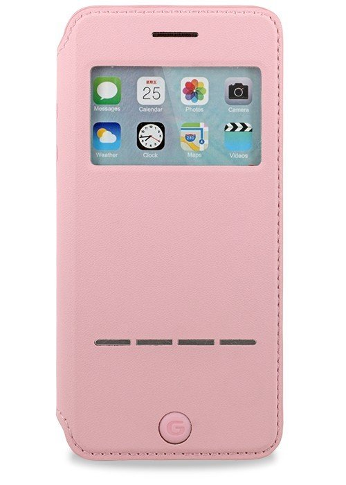Чехол для iPhone 6/6S G-Case окно с ответ книжка (Розовый)