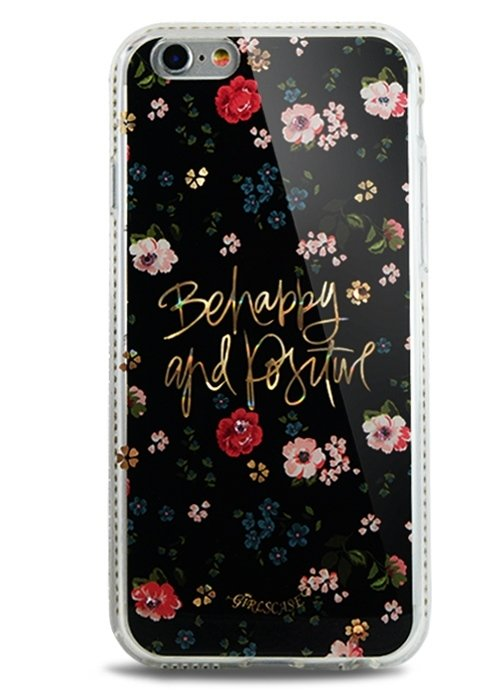 Чехол для iPhone 6/6S GirlsCase (Beehappy and Positive)
