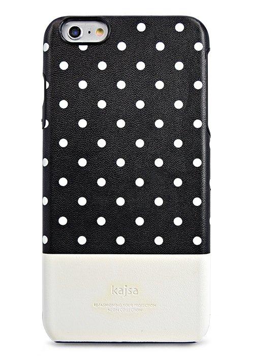Чехол для iPhone 6/6S Kajsa накладка (Горошек на Черном)