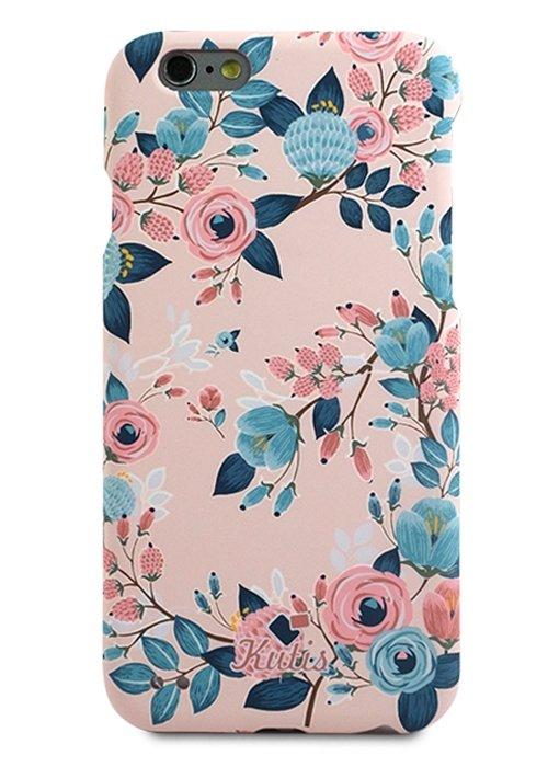 Чехол для iPhone 6/6S Kutis 360 PC (Цветы и ягоды на розовом)