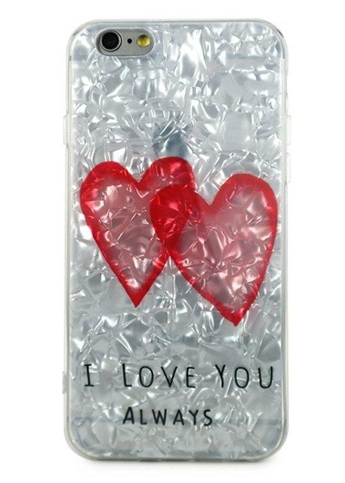 Чехол для iPhone 6/6S Like силикон (I love you)