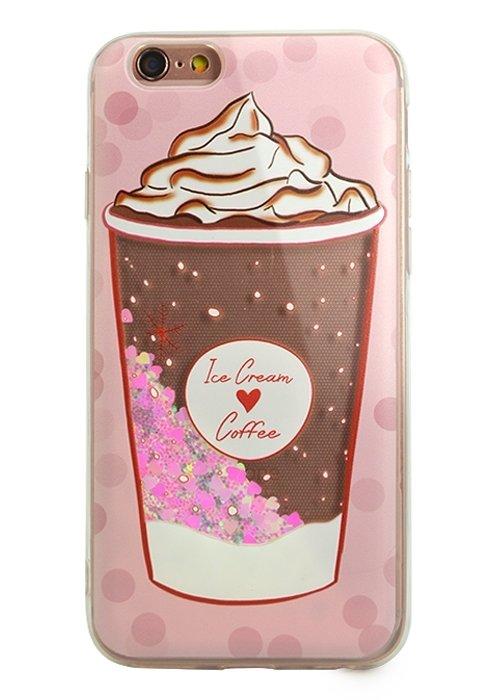 Чехол для iPhone 6/6S Lovely stream силикон Lux (Ice cream coffee)