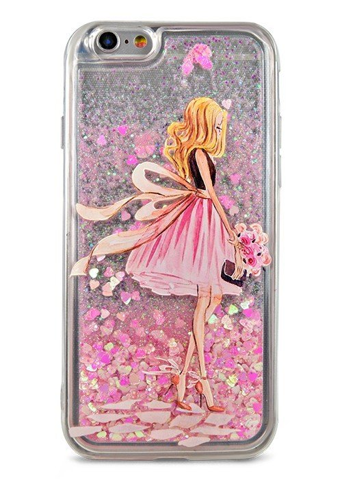 Чехол для iPhone 6/6S Lovely stream силикон Lux (Pink dress)