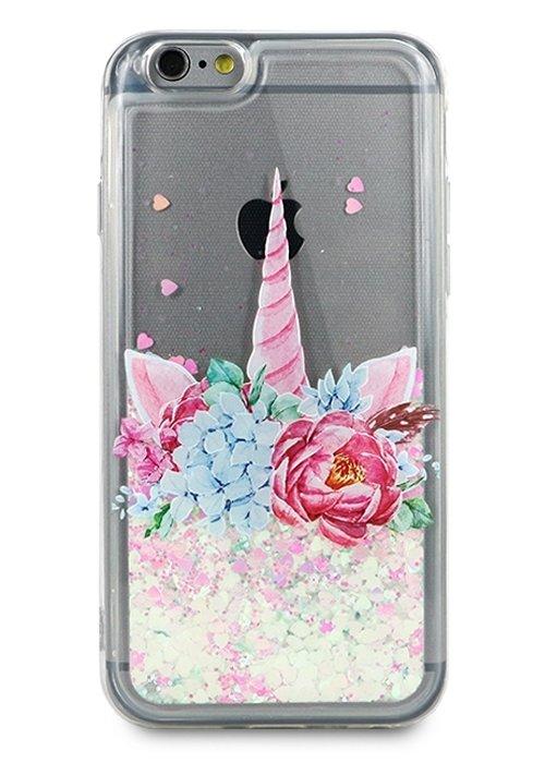 Чехол для iPhone 6/6S Lovely stream силикон Lux (Unicorn in flowers)