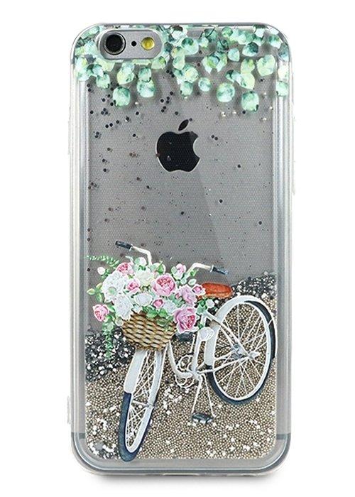 Чехол для iPhone 6/6S Lovely stream силикон Lux (Велосипед)