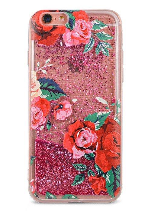 Чехол для iPhone 6/6S Lovely stream силикон Lux (Красные розы)
