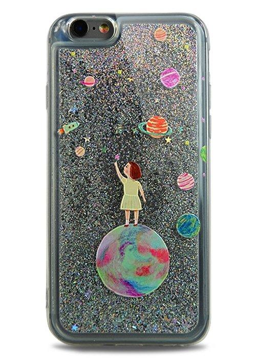 Чехол для iPhone 6/6S Lovely stream силикон Lux (Планеты)