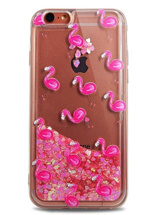 Чехол для iPhone 6/6S Lovely stream силикон Lux (Фламинго на розовом)
