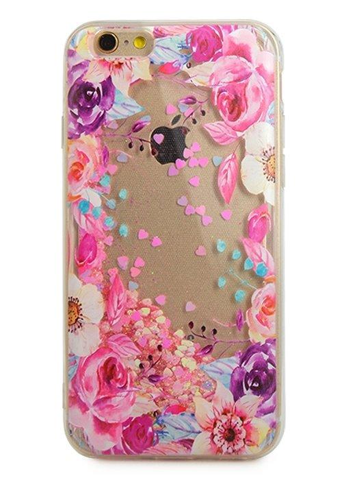Чехол для iPhone 6/6S Lovely stream силикон Lux (Цветочная рамка)