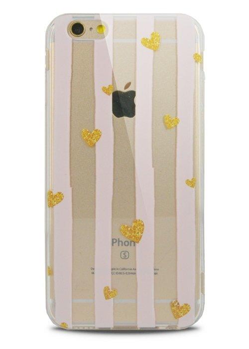 Чехол для iPhone 6/6S Lovely силикон (Golden hearts)