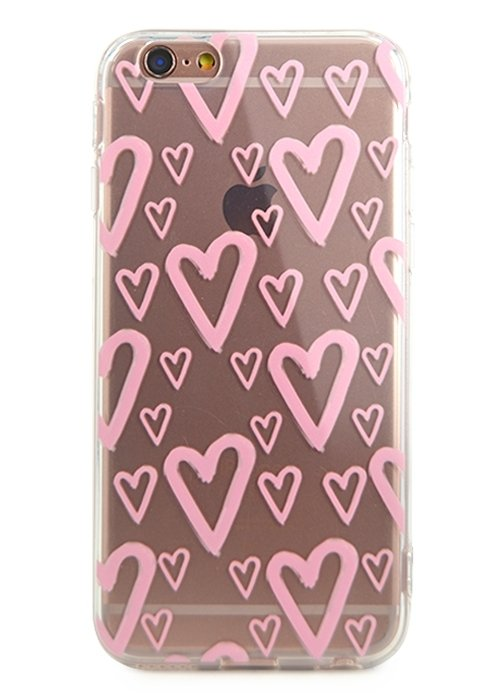Чехол для iPhone 6/6S Lovely силикон (Hearts)
