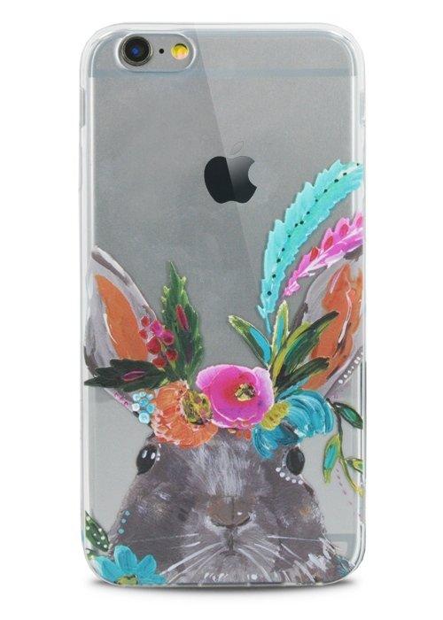 Чехол для iPhone 6/6S Lovely силикон (Заяц)