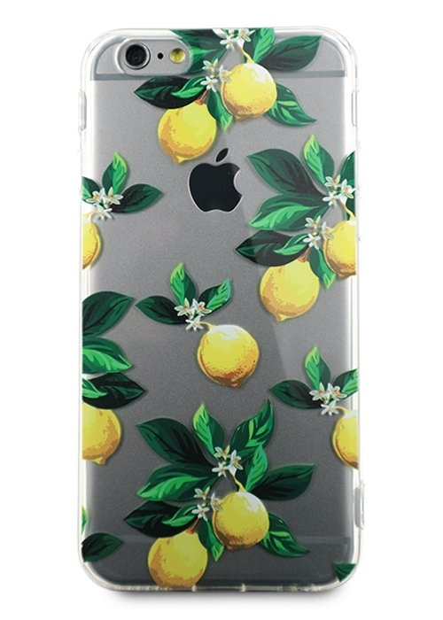 Чехол для iPhone 6/6S Lovely силикон (Лимон)