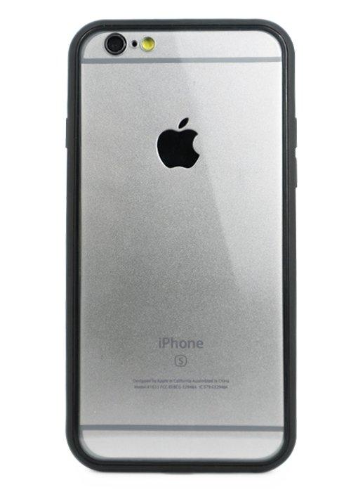 Чехол для iPhone 6/6S Magnet glass case (Прозрачный черный)