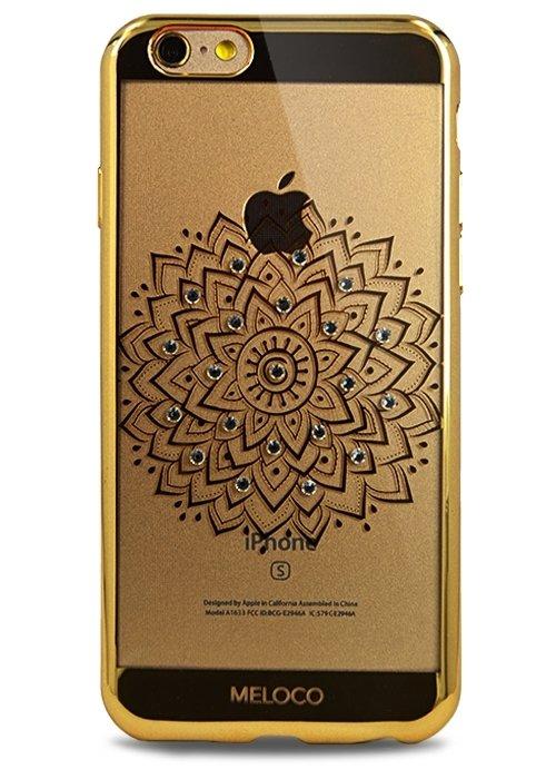 Чехол для iPhone 6/6S Meloco Beck (Цветок Золото)