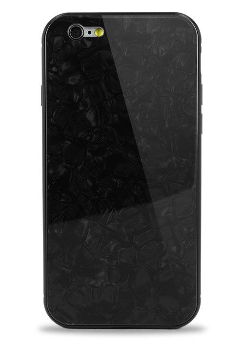 Чехол для iPhone 6/6S Pearl magnet glass (Черный)