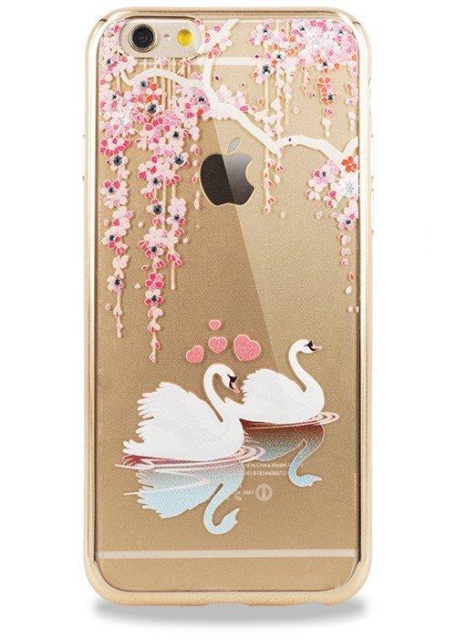 Чехол для iPhone 6/6S PGS Swarovski (Лебедь Золото)