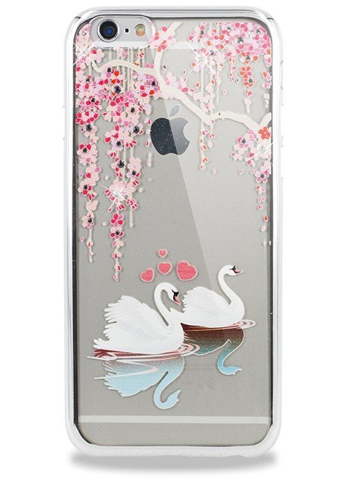 Чехол для iPhone 6/6S PGS Swarovski (Лебедь Серебро)