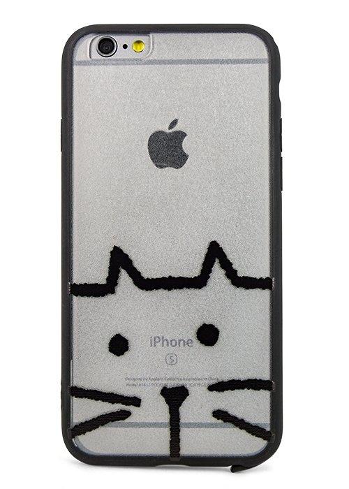 Чехол для iPhone 6/6S Pictorial PC + силикон (Cat)
