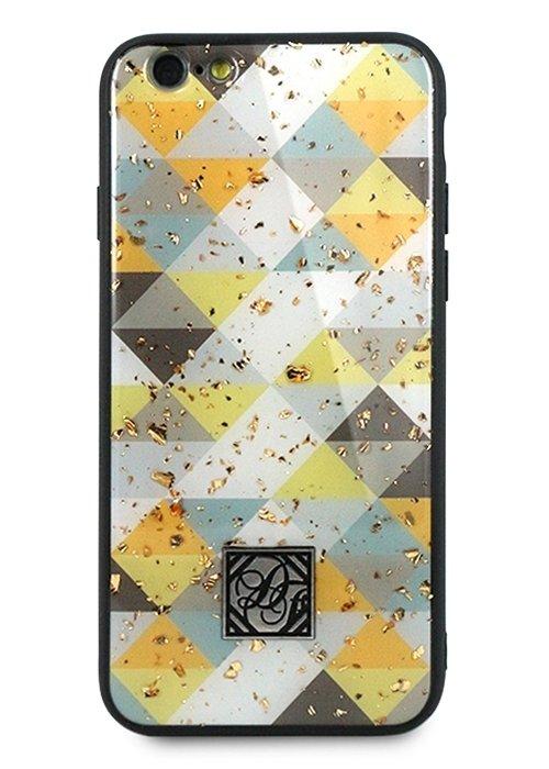 Чехол для iPhone 6/6S Pictures foil силикон (Ромбы)