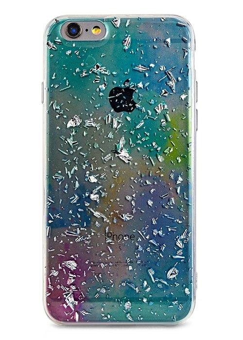 Чехол для iPhone 6/6S Rainbow foil (Голубой)