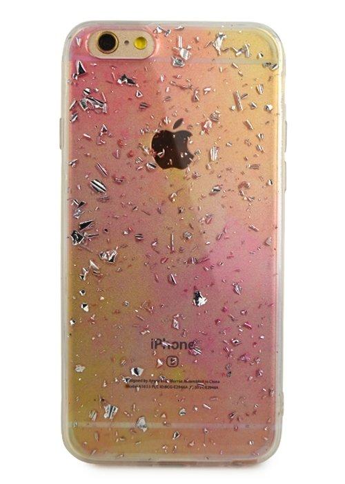 Чехол для iPhone 6/6S Rainbow foil (Розовый)