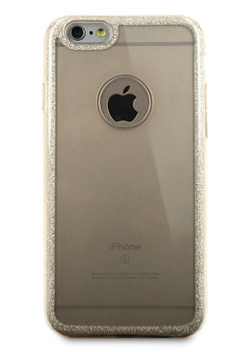 Чехол для iPhone 6/6S Sheer edge силикон (Золото)