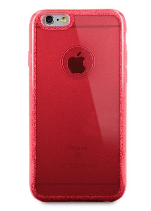 Чехол для iPhone 6/6S Sheer edge силикон (Красный)